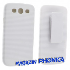Husa toc plastic cu prindere curea Samsung Galaxy S3 I9300 + folie ecran