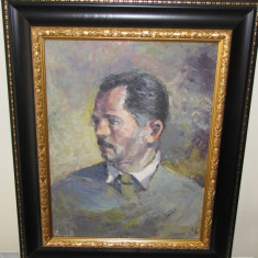 ULEI CARTON AUTOPORTRET VASILESCU CORNEL n. 1934 BARLAD, Portrete, Realism