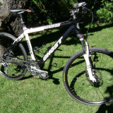 Ghost EBS Two Full XT MTB - Mountain Bike, 18 inch, 26 inch, Numar viteze: 27, Aluminiu, Alb