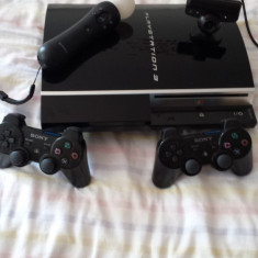 PlayStation 3 Sony modat+ 2 manete + eyecamera + move controller