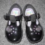Sandale cu licurici nr.5, corespunde nr 21, Fete, Negru