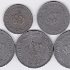 7) LOT serie COMPLETA 1941-1944: 2 lei 1941 5 lei 1942 si 20 lei 1942 1943 1944 - Moneda Romania