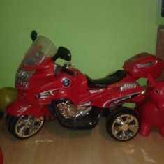 Motocicleta cu acumulatori pentru copii - Masinuta electrica copii Altele, 4-6 ani, Unisex, Rosu