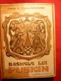 MIRON RADU PARASCHIVESCU - BASMELE LUI PUSKIN  (ILUSTRATII DE TH. KIRIACOFF-SURUCEANU) Ed .1945, Alta editura