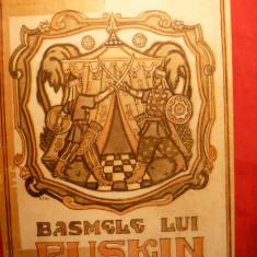 MIRON RADU PARASCHIVESCU - BASMELE LUI PUSKIN (ILUSTRATII DE TH. KIRIACOFF-SURUCEANU) Ed .1945 - Carte de povesti