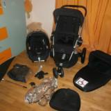 QUINNY BUZZ 3 IMPECABIL CU LANDOU FOLDABLE ADUS UK - Carucior copii 3 in 1 Quinny, Pliabil, Negru