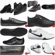 Adidasi -Puma, Nike, Adidas, Le coq sportif noi - Adidasi barbati, Marime: 38, Piele naturala