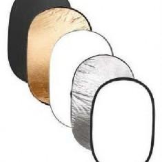 Blenda ovala 5 in 1 reflexie difuzie 90x120 cm 90x120cm, noua, Blende foto reflexie