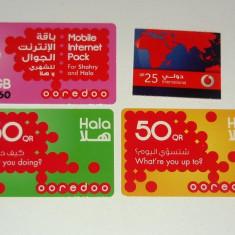 Lot / Set 4 cartele - CARTELA TELEFONICA - QATAR - 2+1 gratis pt produse la pret fix - CHA1335 - Cartela telefonica straina