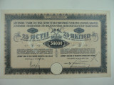 ACTIUNI - FABRICA DE TIGLE - MUSCHONG - SANTIMBRU - 50000 LEI - 1924 - RARITATE