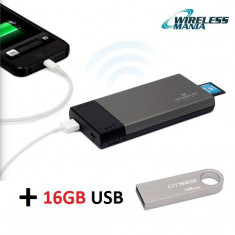 Cititor card Wireless Kingston MobileLite SD/SDHC/XC incarcator Memorie USB 16GB - Cititor carduri