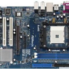 Placa de Baza Asrock+procesor+cooler, Pentru AMD, Socket: 754, DDR, Contine procesor