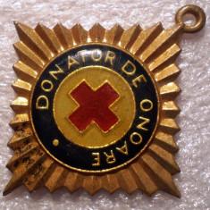 I.610 INSIGNA ROMANIA CRUCEA ROSIE DONATOR DE ONOARE, Romania de la 1950