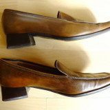Pantofi Giorgio Ferri Made in Italy, piele naturala; 26 cm talpic, 3 cm toc