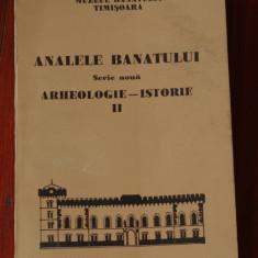 Carte --- Analele Banatului - Arheologie - Istorie 1993 nr II - serie noua - 424 pagini - Carte Istorie