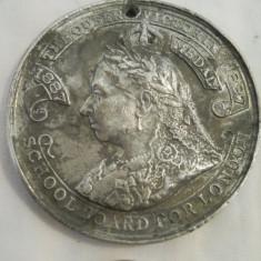 Rara si Veche Medalie Decoratie Regina Victoria 1897 1900 piesa de colectie