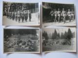 REDUCERE 20 LEI! 4 FOTOGRAFII WW II CU DEFILAREA OFITERILOR GARNIZOANEI PREDEAL 1942