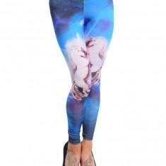 Colanti, Albastru Roz, Imprimeu Cai, Multicolor, 38-40, Normali