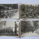 REDUCERE 20 LEI! 4 FOTOGRAFII WW II CU MILITARII GARNIZOANEI PREDEAL 1942 - Fotografie veche