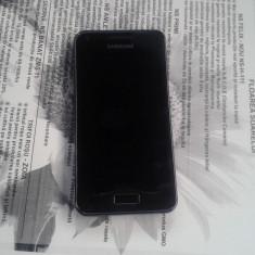 SAMSUNG GALAXY S ADVANCE S5570 APROAPE IMPECABIL - TRIMIT CU VERIFICARE - Telefon mobil Samsung Galaxy S Advance, Negru, 8GB, Neblocat