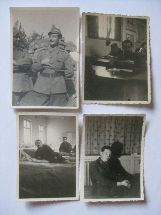 4 FOTOGRAFII MILITARI ROMANI LA SCOALA OFITERI ANII 40