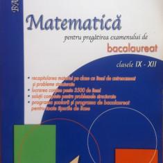 MATEMATICA PENTRU PREGATIREA EXAMENULUI DE BACALAUREAT - D. Balanescu, F. Gache, Art
