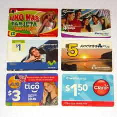 Lot / Set 6 cartele telefonice - CARTELA TELEFONICA - EL SALVADOR - 2+1 gratis pt produse la pret fix - CHA1347 - Cartela telefonica straina