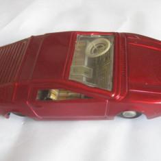 MASINUTA COLECTIE DIN TABLA CU MOTORAS MECANIC ANII 80 - Colectii