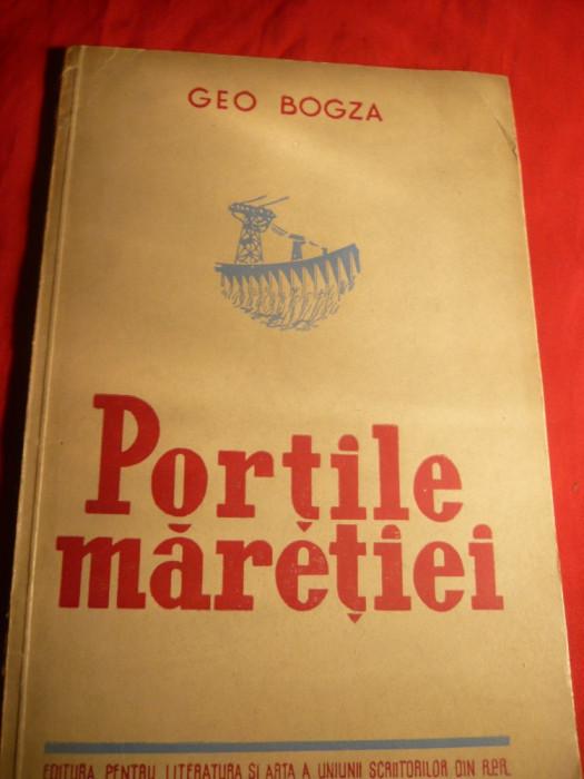 Geo Bogza - Portile Maretiei - Ed.1951 ,ilustratii Ligia Macovei foto mare
