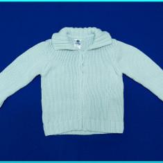 DE FIRMA → Jerseu—jacheta din bumbac, ZARA Baby → baieti | 6—12 luni | 68—74 cm, Marime: Alta, Culoare: Bleu