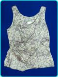 DE FIRMA → Bluza dama draguta, NOUA, model deosebit, H&M → fete, femei | EUR 40, Fara maneca, Mov, H&M