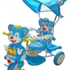 Triciclete Copii Ursulet Albastru Si roz - Tricicleta copii, Baiat