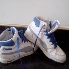 Adidasi gheata PUMA - Ghete copii Puma, Marime: 34, Unisex, Piele naturala, Alb