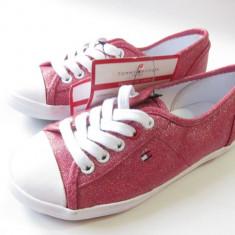 TENESI COPII TOMMY HILFIGER roz cu sclipici - MAS . 31 NOI !!! - Tenisi copii Tommy Hilfiger, Fete