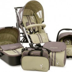 Carucior copii 3 in 1, marca Cangaroo Drift, Verde