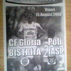Gloria Bistrita-Politehnica Iasi (15 august 2008) - Program meci