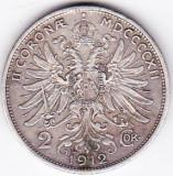 Austria Ungaria  2 Kronen Korona Coroane 1912 argint (1), Europa