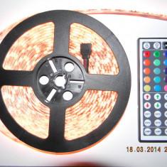 Banda led RGB 5050, WATERPROOF, controller si telecomanda