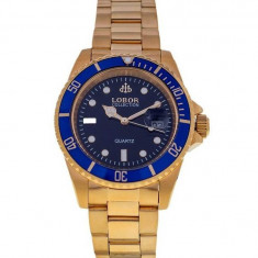Ceas de Lux Lobor Collection , gold blue, mecanism japonez  , CITIZEN - MIYOTA ~ ! ! !