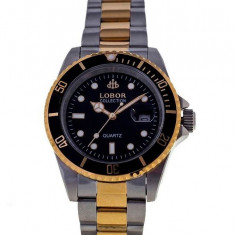 Ceas de Lux Lobor Collection, bicolor - black, mecanism japonez, CITIZEN - MIYOTA ~ design Rolex ~ ! ! ! - Ceas dama Rolex, Fashion, Mecanic-Manual, Inox, Data