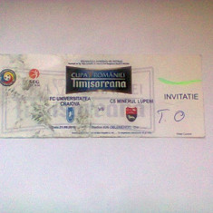 Universitatea Craiova-CS Minerul Lupeni (21 septembrir 2010) / invitatie Cupa Romaniei