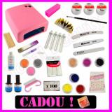 Kit Unghii false Sina cu Gel UV Manichiura French + GHID Aplicare + Cadou