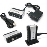 Hub USB 2.0, 7 Port High Speed + AC Adapter Cable