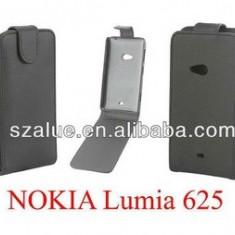 Toc piele neagra husa flip Nokia Lumia 625 - Husa Telefon Nokia, Negru, Piele Ecologica