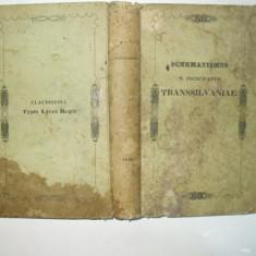 Calendar pentru Principatul Transilvaniei in limba latina Cluj 1843, Alta editura