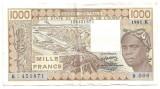 Africa de Vest (Senegal) 1000 Francs Franci 1981 F