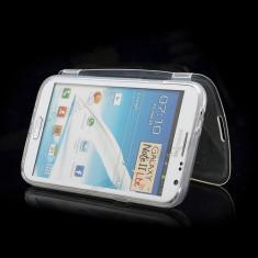 Husa gel flip transparent Samsung Galaxy Note 2 N7100