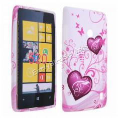 Husa silicon Nokia Lumia 520 + folie protectie ecran + transport gratuit Posta - sell by Phonica