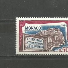MONACO 1965 - FESTIVAL DE TELEVIZIUNE, timbru nestampilat, R24