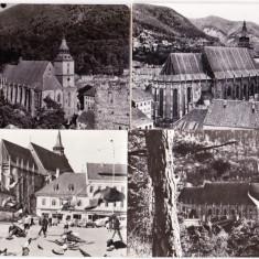 Brasov Orasul Stalin RPR lot 4 vederi cu Biserica Neagra - Carte Postala Transilvania dupa 1918